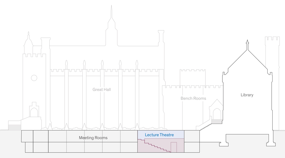 Lecture theatre cross section