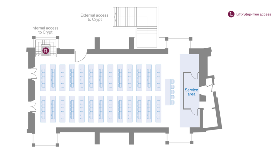 Old Hall Theatre layout