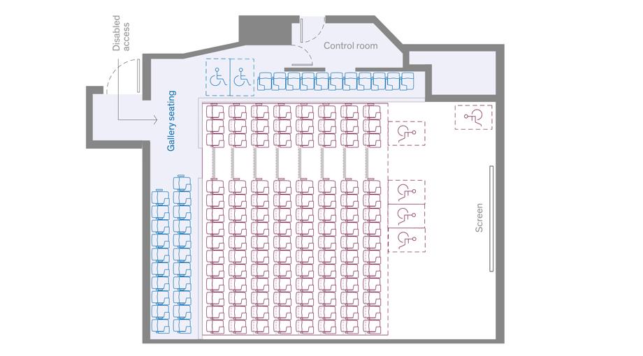 lecture theatre upper level