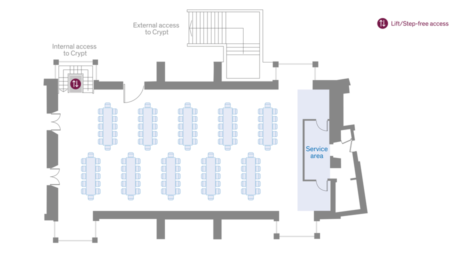 Old Hall Dinner layout